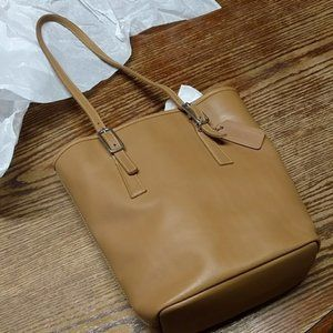 COACH Vintage Tan Leather Small Tote